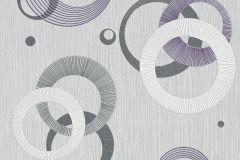 456523 cikkszámú tapéta.3d hatású,geometriai mintás,pöttyös,fehér,lila,szürke,lemosható,illesztés mentes,vlies tapéta