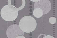 788013 cikkszámú tapéta.3d hatású,geometriai mintás,pöttyös,lila,szürke,lemosható,illesztés mentes,vlies tapéta
