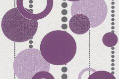 788020 cikkszámú tapéta.3d hatású,geometriai mintás,pöttyös,fehér,lila,szürke,lemosható,illesztés mentes,vlies tapéta