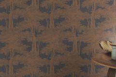 605426 cikkszámú tapéta.Fa hatású-fa mintás,különleges felületű,tájkép,természeti mintás,barna,bronz,lila,lemosható,vlies tapéta