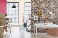 605631 cikkszámú tapéta.Különleges felületű,természeti mintás,virágmintás,fehér,lila,narancs-terrakotta,pink-rózsaszín,piros-bordó,szürke,vajszín,zöld,lemosható,vlies tapéta