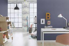 423983 cikkszámú tapéta.Egyszínű,különleges felületű,textilmintás,kék,lemosható,illesztés mentes,vlies tapéta