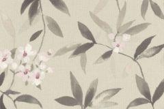 424928 cikkszámú tapéta.Különleges felületű,textilmintás,virágmintás,barna,pink-rózsaszín,szürke,zöld,lemosható,vlies tapéta
