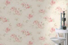 425628 cikkszámú tapéta.Különleges felületű,textilmintás,virágmintás,bézs-drapp,pink-rózsaszín,zöld,lemosható,vlies tapéta