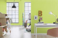 469035 cikkszámú tapéta.Egyszínű,gyerek,zöld,lemosható,illesztés mentes,vlies tapéta