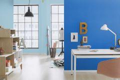 469097 cikkszámú tapéta.Egyszínű,gyerek,különleges felületű,kék,lemosható,illesztés mentes,vlies tapéta