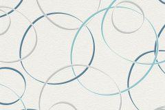 700015 cikkszámú tapéta.Absztrakt,geometriai mintás,gyerek,különleges felületű,retro,fehér,kék,szürke,lemosható,vlies tapéta