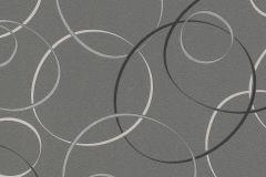 700039 cikkszámú tapéta.Absztrakt,geometriai mintás,különleges felületű,különleges motívumos,retro,ezüst,fekete,szürke,lemosható,vlies tapéta