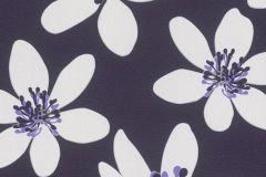 700183 cikkszámú tapéta.Különleges felületű,retro,virágmintás,fehér,lila,zöld,lemosható,vlies tapéta