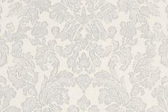 441413 cikkszámú tapéta.Barokk-klasszikus,fehér,szürke,lemosható,vlies tapéta