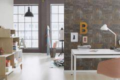 318005 cikkszámú tapéta.Fémhatású - indusztriális,kőhatású-kőmintás,barna,bronz,szürke,lemosható,vlies tapéta
