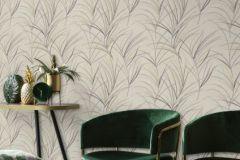540635 cikkszámú tapéta.Természeti mintás,bézs-drapp,fehér,lila,szürke,zöld,lemosható,vlies tapéta
