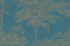 214321 cikkszámú tapéta.Természeti mintás,arany,türkiz,gyengén mosható,papír tapéta