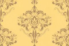 214819 cikkszámú tapéta.Barokk-klasszikus,sárga,gyengén mosható,papír tapéta