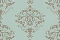 214826 cikkszámú tapéta.Barokk-klasszikus,bronz,türkiz,gyengén mosható,papír tapéta