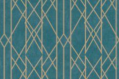 215137 cikkszámú tapéta.Absztrakt,arany,türkiz,gyengén mosható,papír tapéta