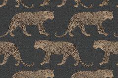 215311 cikkszámú tapéta.állatok,arany,fekete,gyengén mosható,papír tapéta
