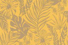 215526 cikkszámú tapéta.Természeti mintás,virágmintás,sárga,szürke,gyengén mosható,papír tapéta
