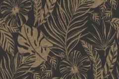215533 cikkszámú tapéta.Természeti mintás,virágmintás,arany,fekete,gyengén mosható,papír tapéta
