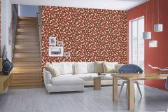 806878 cikkszámú tapéta.Egyszínű,narancs-terrakotta,lemosható,illesztés mentes,vlies tapéta