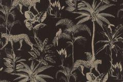 409031 cikkszámú tapéta.állatok,természeti mintás,arany,fekete,lemosható,vlies tapéta