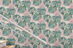 526615 cikkszámú tapéta.Természeti mintás,pink-rózsaszín,zöld,lemosható,vlies tapéta