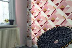 533101 cikkszámú tapéta.Absztrakt,arany,fehér,pink-rózsaszín,piros-bordó,lemosható,vlies tapéta