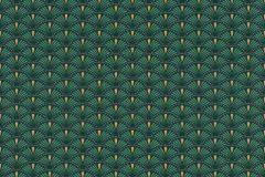 637915 cikkszámú tapéta.Absztrakt,arany,zöld,lemosható,vlies tapéta
