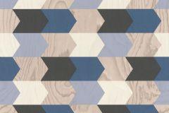 638219 cikkszámú tapéta.3d hatású,fa hatású-fa mintás,geometriai mintás,bézs-drapp,kék,szürke,lemosható,vlies tapéta