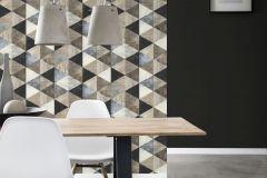 638660 cikkszámú tapéta.Absztrakt,fa hatású-fa mintás,geometriai mintás,barna,fehér,kék,szürke,lemosható,vlies tapéta