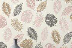 639414 cikkszámú tapéta.Természeti mintás,arany,fehér,pink-rózsaszín,lemosható,vlies tapéta