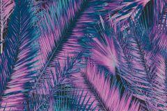 826845 cikkszámú tapéta.3d hatású,metál-fényes,természeti mintás,fekete,lila,türkiz,lemosható,vlies tapéta