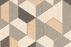 831207 cikkszámú tapéta.3d hatású,fa hatású-fa mintás,fekete,lemosható,vlies tapéta