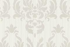 433005 cikkszámú tapéta.Barokk-klasszikus,fehér,szürke,lemosható,vlies tapéta