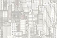 795127 cikkszámú tapéta.3d hatású,különleges motívumos,rajzolt,fehér,szürke,lemosható,vlies tapéta