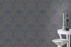 503845 cikkszámú tapéta.Barokk-klasszikus,csillámos,különleges felületű,különleges motívumos,rajzolt,retro,virágmintás,bézs-drapp,gyöngyház,szürke,lemosható,vlies tapéta