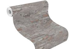 625530 cikkszámú tapéta.Kőhatású-kőmintás,különleges felületű,narancs-terrakotta,szürke,lemosható,vlies tapéta