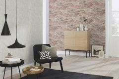625554 cikkszámú tapéta.Kőhatású-kőmintás,különleges felületű,narancs-terrakotta,szürke,lemosható,vlies tapéta