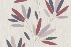 808742 cikkszámú tapéta.Dekor,különleges felületű,természeti mintás,virágmintás,fehér,lila,piros-bordó,szürke,lemosható,illesztés mentes,vlies tapéta