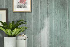 809213 cikkszámú tapéta.Fa hatású-fa mintás,különleges felületű,türkiz,lemosható,illesztés mentes,vlies tapéta