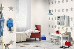 809329 cikkszámú tapéta.Dekor,gyerek,különleges felületű,fehér,szürke,lemosható,illesztés mentes,vlies tapéta