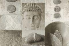 306347 cikkszámú tapéta.Kőhatású-kőmintás,különleges felületű,természeti mintás,virágmintás,bézs-drapp,bronz,szürke,vajszín,lemosható,papír tapéta