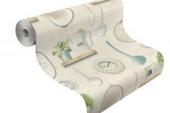307108 cikkszámú tapéta.3d hatású,feliratos-számos,konyha-fürdőszobai,különleges felületű,különleges motívumos,rajzolt,retro,bézs-drapp,fehér,kék,szürke,vajszín,zöld,lemosható,papír tapéta