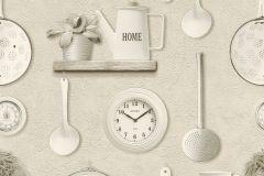 307115 cikkszámú tapéta.3d hatású,feliratos-számos,konyha-fürdőszobai,különleges felületű,különleges motívumos,rajzolt,retro,bézs-drapp,ezüst,fehér,fekete,szürke,lemosható,papír tapéta
