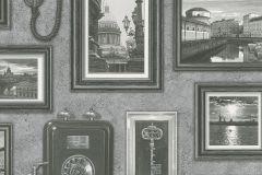 307900 cikkszámú tapéta.3d hatású,feliratos-számos,kockás,különleges felületű,különleges motívumos,rajzolt,retro,természeti mintás,ezüst,fehér,fekete,szürke,lemosható,papír tapéta