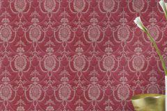 532135 cikkszámú tapéta.Barokk-klasszikus,különleges felületű,metál-fényes,arany,piros-bordó,lemosható,vlies tapéta