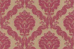 532241 cikkszámú tapéta.Barokk-klasszikus,különleges felületű,arany,piros-bordó,lemosható,vlies tapéta