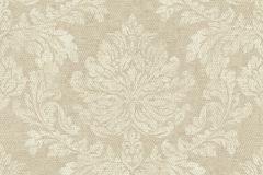 802634 cikkszámú tapéta.Barokk-klasszikus,textil hatású,bézs-drapp,vajszín,lemosható,vlies tapéta