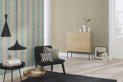 802733 cikkszámú tapéta.Csíkos,textil hatású,barna,kék,lemosható,illesztés mentes,vlies tapéta