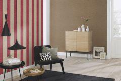 802740 cikkszámú tapéta.Csíkos,textil hatású,bézs-drapp,piros-bordó,lemosható,illesztés mentes,vlies tapéta